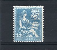 """FRANCE STAMP TIMBRE YVERT 114 """" MOUCHON 25c BLEU TYPE I 1900 """" NEUF xx LUXE V102"""