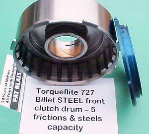 Torqueflite 727 1971+ Billet STEEL Front Clutch Drum 5 Disc/Steel - Strip/Street