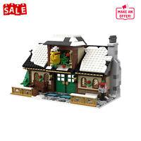 MOC-17649 Winter Village Cafe Modular Buildings Model Toys 1002 Pieces Bricks
