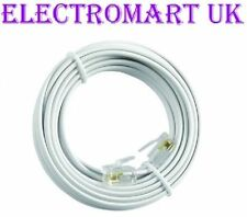 HIGH SPEED BT BROADBAND ADSL MODEM ROUTER RJ11 PLUG LEAD CABLE WHITE 20M