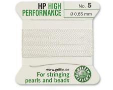 HP HIGH PERFORMANCE BIANCO SETA prendendo gioco FILO 0,65 mm Griffin TAGLIA 5-ft799