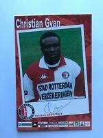 Autogramm CHRISTIAN GYAN-Feyenoord Rotterdam 00/01-NS GHANA-Ex-Wrexham/TPS-AK