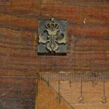 Messing Ornament Buchbinden Prägen Buchbinder Prägestempel Vergolden floral rar
