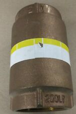 Brass Check Valve 2 inch, 200 PSI, New Old Stock
