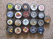 FIFTY THREE Junior, Minor Pro,etc. Hockey Pucks. Many Game. Some 1980's,1990's
