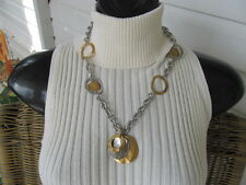 New PREMIER DESIGNS Silver & Gold UNDER THE SUN Necklace RETIRED