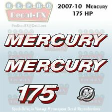 07-10 Mercury 175 HP Outboard Reproduction 4 Piece Marine Decals