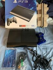 Playstation 3 (ps3) Super Slim 500GB Black Console- WORKS GREAT!