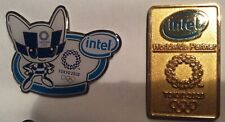 2 pcs Intel Tokyo 2020 Olympic pins