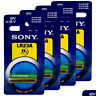 4 x SONY Alkaline LR23A batteries 12V A23 MN21 K23A 3LR50 LRV08 Alarm Calculator