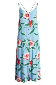 GIBSON The Motherchic Al Fresco Strappy Floral Button Front Sundress Size Small