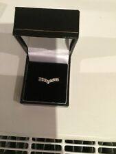 9ct Yellow Gold And CZ Wishbone Ring Size O