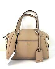 DKNY Satchel Medium Pebble Leather Chelsea Handbag (Brown)