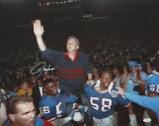 Lawrence Taylor Autographed 16x20 With Parcells On Shoulders Photo JSA W Auth