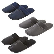Pierre Roche Mens Slippers Plain Mule Memory Foam Faux Suede Slip Ons Sizes 7-12