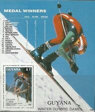 Timbre Sports d'hiver JO Guyana BF19 ** lot 21040