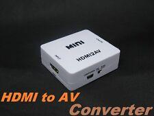Mini HDMI to AV Composite RCA CVbS Video + Audio Converter for TV PS3 VHS VCR