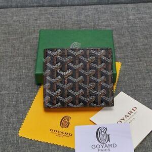 Brand New Wallet GOYARD GOYARDINE Saint Sulpician Card Holder Genuine Leather