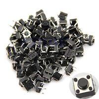 100pcs 6x6x5mm 4pin Tactile Push Button Switch Momentary Tact  DIP Through-Hole