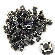 100pcs Tactile Push Switch Button Momentary Tact 6x6x5mm DIP Through-Hole 4pin