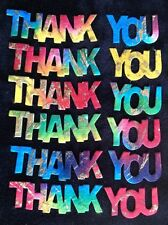 25 Thank you Diecut handmade Batik mulberry paper Sayings Thanks cards card