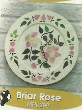 Briar Rose Mosaic Art Stained Glass Clock Pattern Stained Glass Supplies