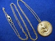 "$28 Nordstrom GEMINI Horoscope Sign Zodiac Pendant Necklace Goldtone 36"" Long"