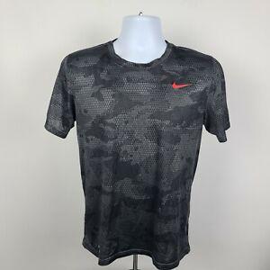 The Nike Tee Dri Fit Geometric Crewneck Mens Athletic T Shirt Size Small S