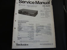Original Service Manual Technics RS-B25