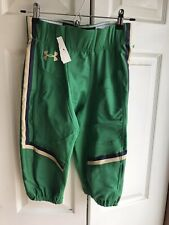 NWT Under Armour Notre Dame Fighting Irish Game Pants RARE shamrock series Lg