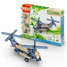 Engino Eco Builds 3 Model HELICOPTERS Building Creative Activity Wooden Toy STEM