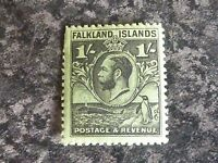 FALKLAND ISLANDS POSTAGE & REVENUE STAMPS SG122 1/- 1929-37 UN MOUNTED MINT