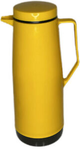 1977 Vintage Mustard Yellow Thermos Carafe Model 90Q Six Cups 36oz Insulated H1