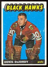 1965 66 TOPPS HOCKEY 113 DENIS DEJORDY VG-EX CHICAGO BLACK HAWKS CARD