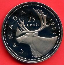 1993 Canada Proof 25 Cent Coin