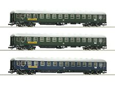 Roco HO scale Set of 3 passenger cars Scharnow Reisen DB