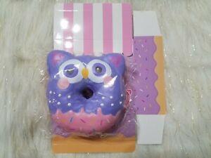 Puni Maru Jumbo Owl Animal Donut Squishy Purple/Pink Face