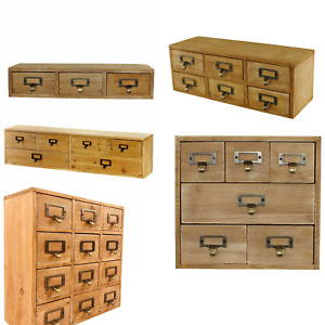 Wooden Desktop Drawers Set Office Storage Solution