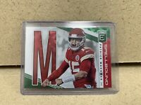 2019 DONRUSS ELITE PATRICK MAHOMES II SPELLBOUND LETTER 2nd M GREEN CHIEFS