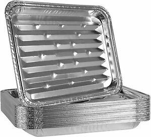 [BULK] Large Broiler Pan Aluminum Disposable Pan - For Baking, BBQ & Grill Trays
