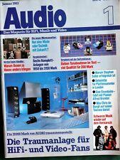 1x AUDIO HIFI Zeitschrift Magazin 1/1983
