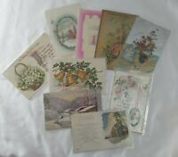 C. Early 1900's New Years Greeting Postcards Lot of 9