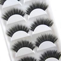 Luxurious 5 Pairs 3D False Eyelashes Set Pro Makeup Long Cross Eye Lashes Set