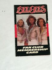 Bee Gees Fan Club membership card 1979