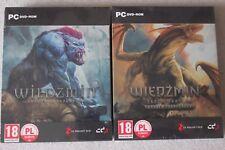 The Witcher 1 & 2 - Steel Case PC DVD  STEELBOOK G2 Exclusive + GOG CODES