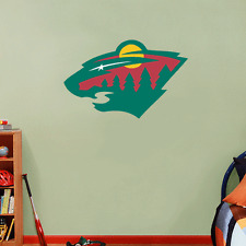 "Minnesota Wild NHL Hockey Wall Decor Sticker Decal 25"" x 16"""
