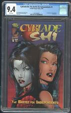 CYBLADE/SHI: THE BATTLE FOR INDEPENDENTS 1 CGC 9.4 1995 1ST APP OF SARA PEZZINI