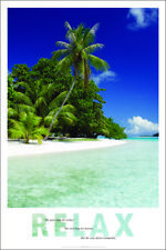 RELAX PALM TREE OVER BEACH POSTER (91x61cm)  NEW LICENSED ART