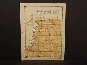 Iowa Plymouth County Map Portland Township  1914  W10#69