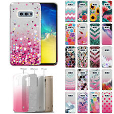 For Samsung Galaxy S10E 5.8 inch Bling 2 Tone Glitter Hybrid TPU Gel Case Cover